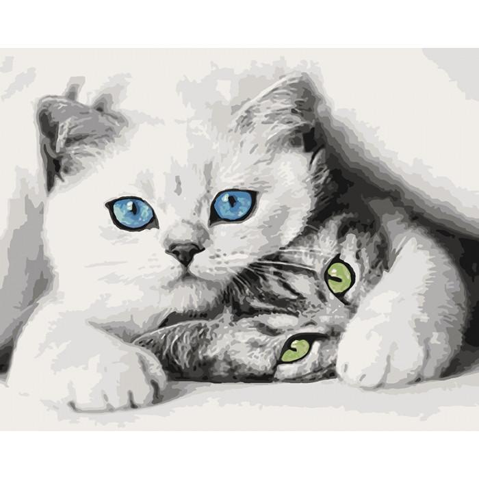 Картина по номерам Кошечки ТМ Идейка 40 х 50 см КНО4098