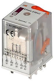 Реле промежуточное ETI ERM2-230AC 2P 230V AC 12А 2473010 (электромеханическое)