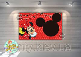"""Плакат 120х75 см в стилі """"Мінні Маус """"червоний горох, на дитячий День народження -"""