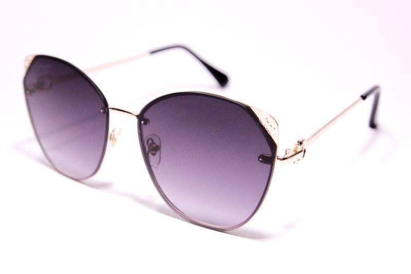Очки солнцезащитные, безободковые, серо-фиолетовая градиентная линза, женские