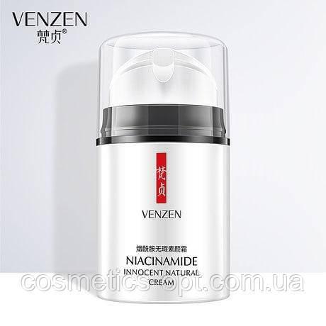 Увлажняющий крем для лица с ниацинамидом и гиалуроновой кислотой Venzen Nicotinamide Cream, 50 г