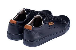 Мужские кожаные кеды Е-series Soft Men Black Leather черные, фото 2