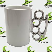 Чашка с кастетом белая , фото 1