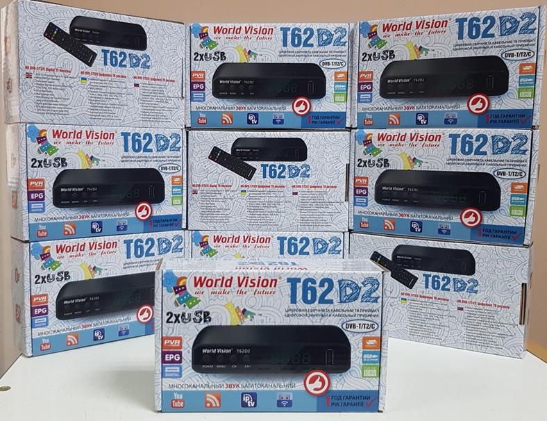 DVB-T2 World Vision T62D2 приставка т2 ресивер тюнер приемник декодер