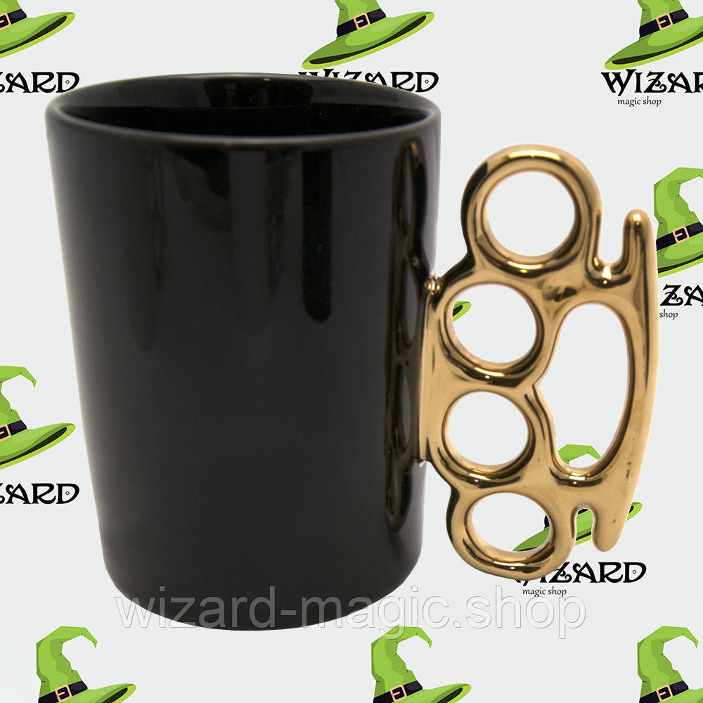 Чашка с кастетом черная