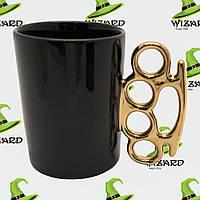 Чашка с кастетом черная , фото 1