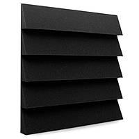 Панель из акустического поролона Ecosound Пила 50 мм 50х50см Цвет черный графит, фото 1