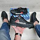 Черные кожаные кроссовки Reebok, фото 4