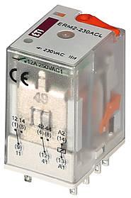 Реле промежуточное ETI ERM2-230ACL 2P 230V AC 12А LED 2473005 (электромеханическое)