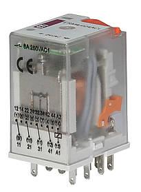 Реле промежуточное ETI ERM2-024ACL 2P 24V AC 12А LED 2473009 (электромеханическое)