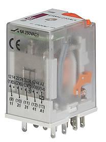 Реле промежуточное ETI ERM2-230ACL 4P 230V AC 6А LED 2473011 (электромеханическое)