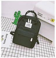 Рюкзак для девочки подростка школьный, водонепроницаемый в стиле Канкен черный