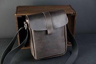 "Мужская сумка ""Модель №44"" Винтажная кожа цвет Шоколад"