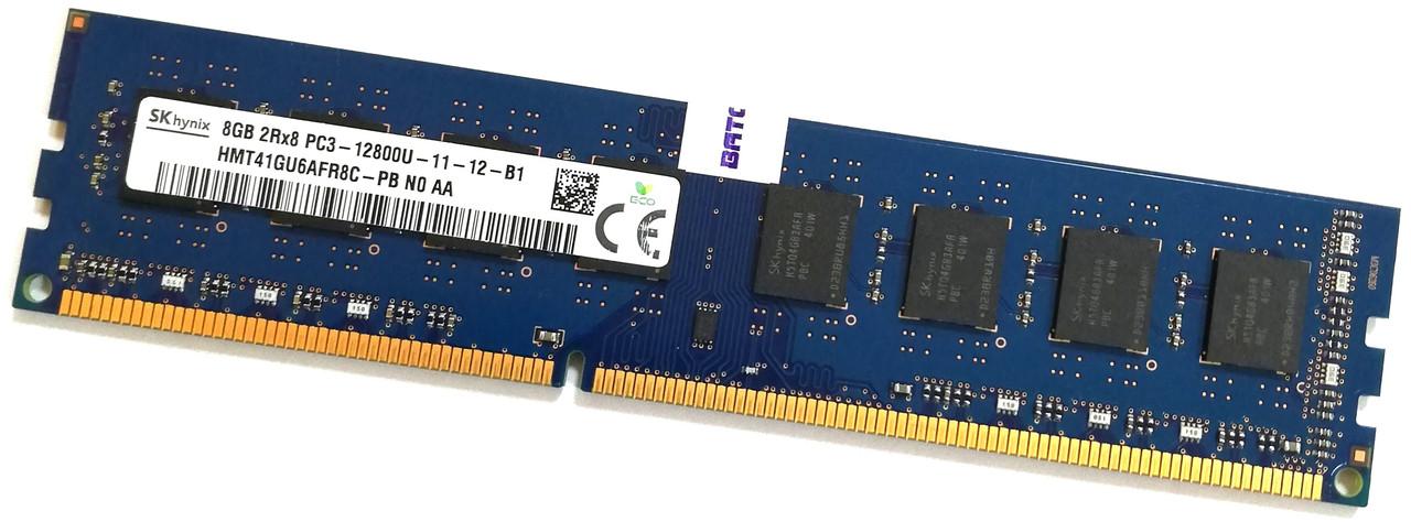 Оперативная память Hynix DDR3 8Gb 1600MHz PC3 12800U 2R8 CL11 (HMT41GU6AFR8C-PB N0 AA) Б/У