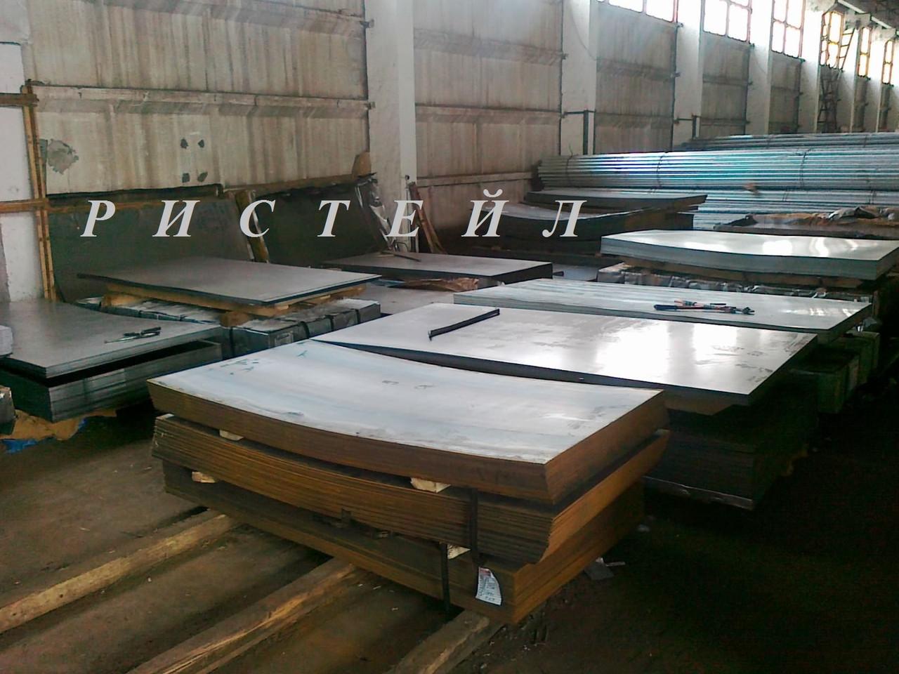 Лист стальной ст 09Г2С размером 25х2000х6000 мм