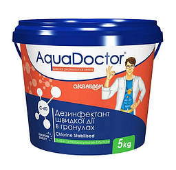 Дезинфектант на основе хлора быстрого действия хлор шок гранулы AquaDoctor C-60 (5 кг)