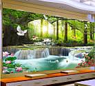"""Алмазная вышивка """"Райский водопад"""", круглые стразы, полная выкладка, фото 5"""