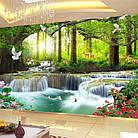 """Алмазная вышивка """"Райский водопад"""", круглые стразы, полная выкладка, фото 3"""