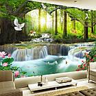 """Алмазная вышивка """"Райский водопад"""", круглые стразы, полная выкладка, фото 2"""