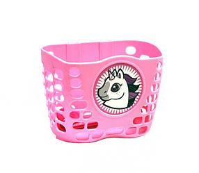 """Корзина детская велосипедная Crossride 12"""", CR-BS07 пластиковая розовая"""