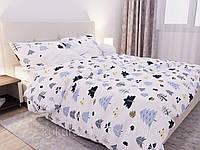 Двуспальный комплект постельного белья с евро простыней «Лесная поляна» из бязи голд