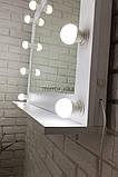 Настенное зеркало с подсветкой ,с полкой зеркало  780х620х150 мм.Моши с полкой 5004, фото 2