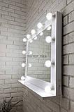Настенное зеркало с подсветкой ,с полкой зеркало  780х620х150 мм.Моши с полкой 5004, фото 3