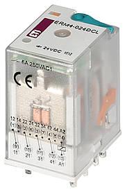Реле промежуточное ETI ERM4-024DCL 4P 24V DC 6А LED 2473007 (электромеханическое)
