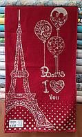 Полотенце  махровое для лица 50*90 I love Paris