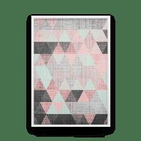 Постер на стену РОЗОВЫЙ ГЕОМЕТРИЧЕСКИЙ ПОСТЕР разбавит Ваш интерьер розовыми треугольниками