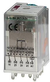 Реле промежуточное ETI ERM4-110DCL 4P 110V DC 6А LED 2473022 (электромеханическое)