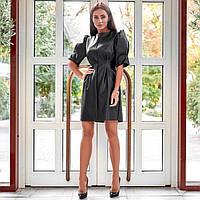 """Сукня жіноча молодіжний еко-шкіра , розміри S-M """"MARGARET"""" купити недорого від прямого постачальника"""