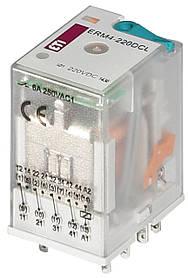 Реле промежуточное ETI ERM4-220DCL 4P 220V DC 6А LED 2473023 (электромеханическое)