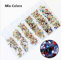 Стразы,фасованные по размерам (от ss3 до ss10), цвет Color Mix, 1200 шт