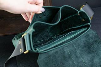 """Мужская сумка """"Модель №44"""" Винтажная кожа цвет Зеленый, фото 3"""