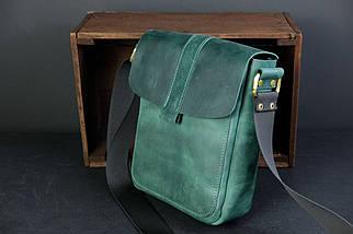"""Мужская сумка """"Модель №44"""" Винтажная кожа цвет Зеленый, фото 2"""