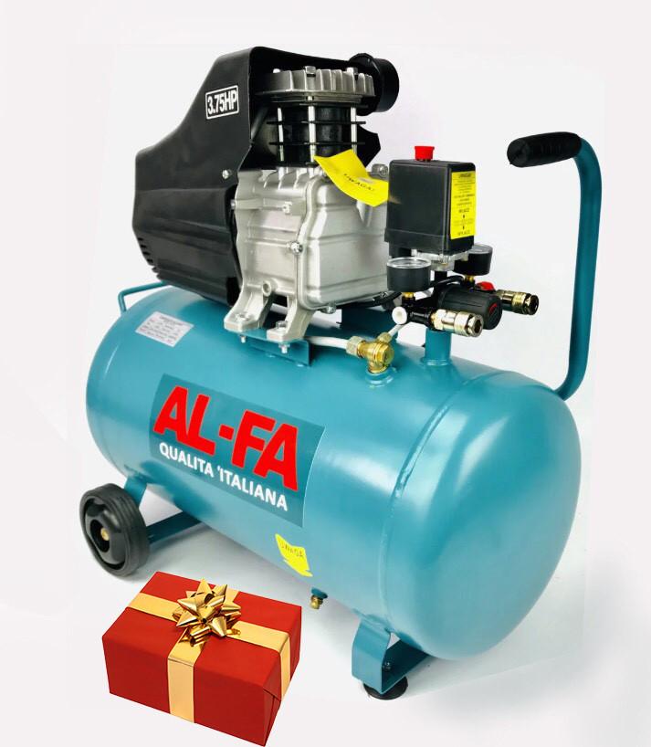 Компрессор AL-FA ALC02 : 2.8 кВт - 50 л. + подарок