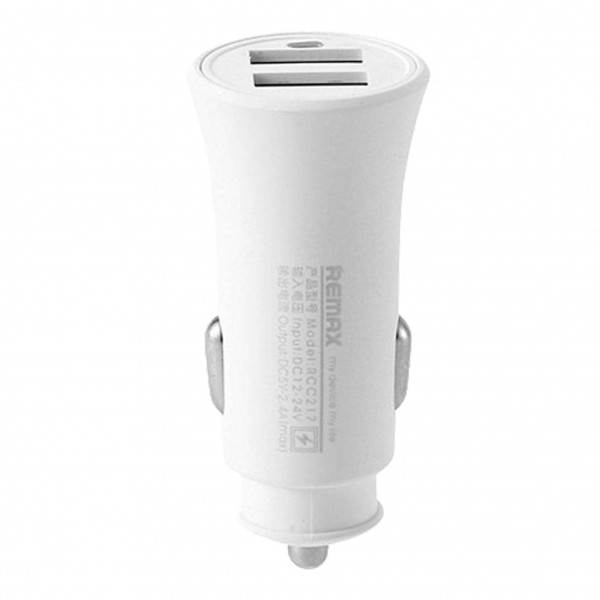 Автомобильное зарядное устройство Remax Rocket Car Charger CC217 (2 USB 2.4A/QC3.0A) (Белый)