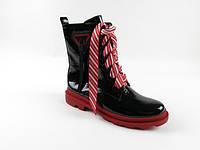 Массивные Лаковые Демисезонные ботинки W2154-2729AL BLACK LAK весна 2020, фото 1