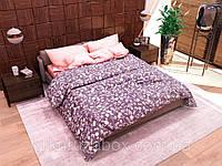 Двуспальный комплект постельного белья с евро простыней Цветочный узор» из бязи голд