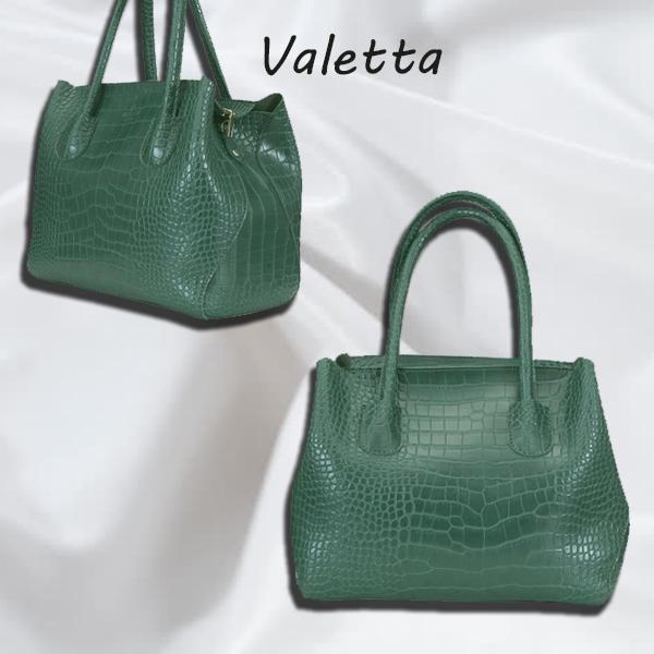 Женская сумка из искуственной кожи цвет зеленый