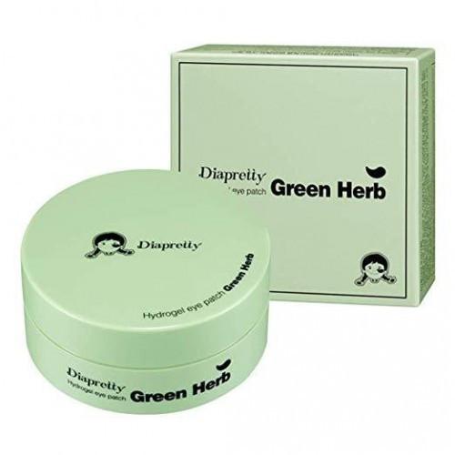 Гидрогелевые патчи для глаз с зелеными травами Diapretty Hydrogel Eye Patch Green Herb 60 шт 84 г (8809532990153)