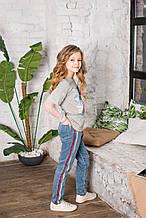 Демисезонные детские джинсы для девочки Colabear Турция 184574 Голубой