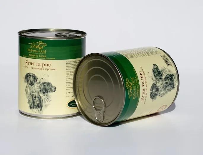 Консерва для собак Hubertus Gold (Хубертус Голд) ягненок-рис 800 г