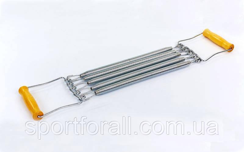 Еспандер пружинний плечової 5пружин (метал, ручки-дерев'яні, l-35см) FI-2018