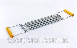 Эспандер пружинный плечевой 5пружин  (металл, ручки-деревянные, l-35см) FI-2018