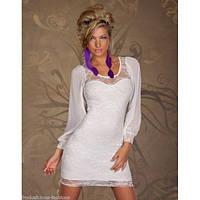 Обворожительное белое платье