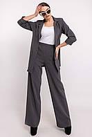 Свободные прямые брюки с завышенной талией Krispi (42–52р) в расцветках