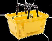 Корзинка для супермаркета 22 л. желтая и др.