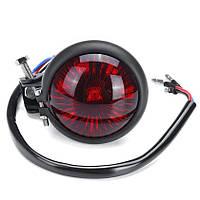 Задній ліхтар HRE2 LED , фара-стоп для мото, кастом мото, каферейсер, універсальний, 12 В, вінтаж Червоний, Чорний (матовий)